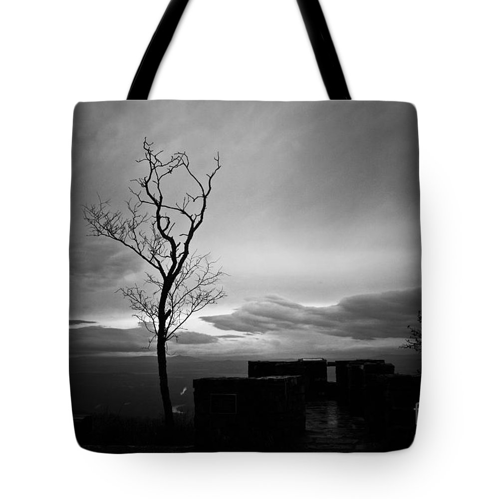 Mountain Top Tote Bag featuring the photograph High On The Mountain Top by Kim Henderson