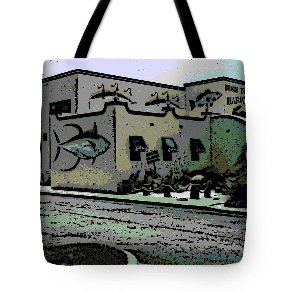 High Tote Bag featuring the photograph High Tide Harry's by George Pedro