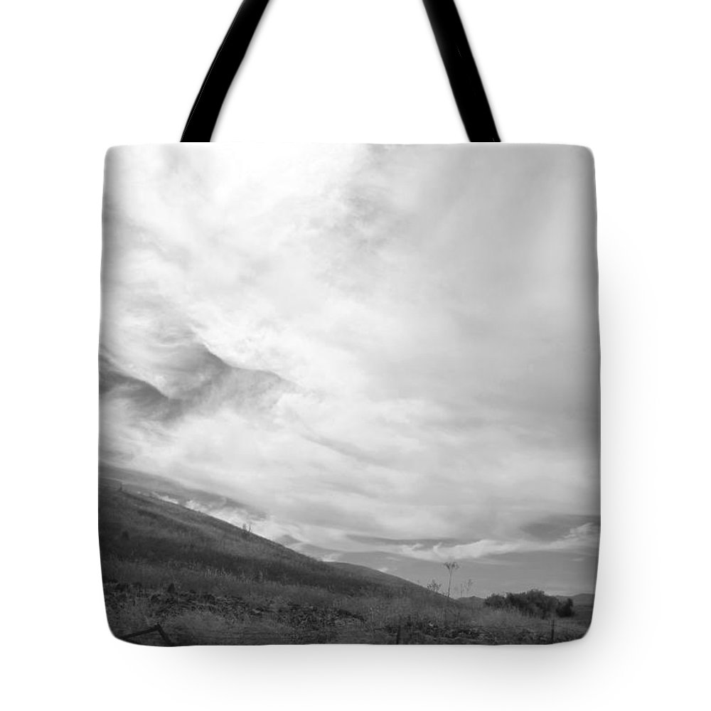 Back Road California Tote Bag featuring the photograph Hillside Meets Sky by Kathleen Grace