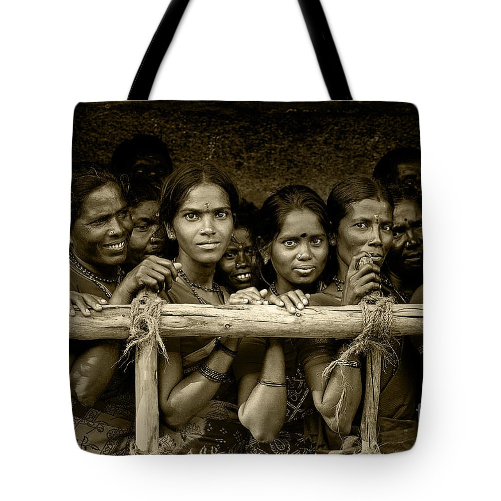 Women Tote Bag featuring the photograph Hindu Pilgrims On New Year's Day by Valerie Rosen
