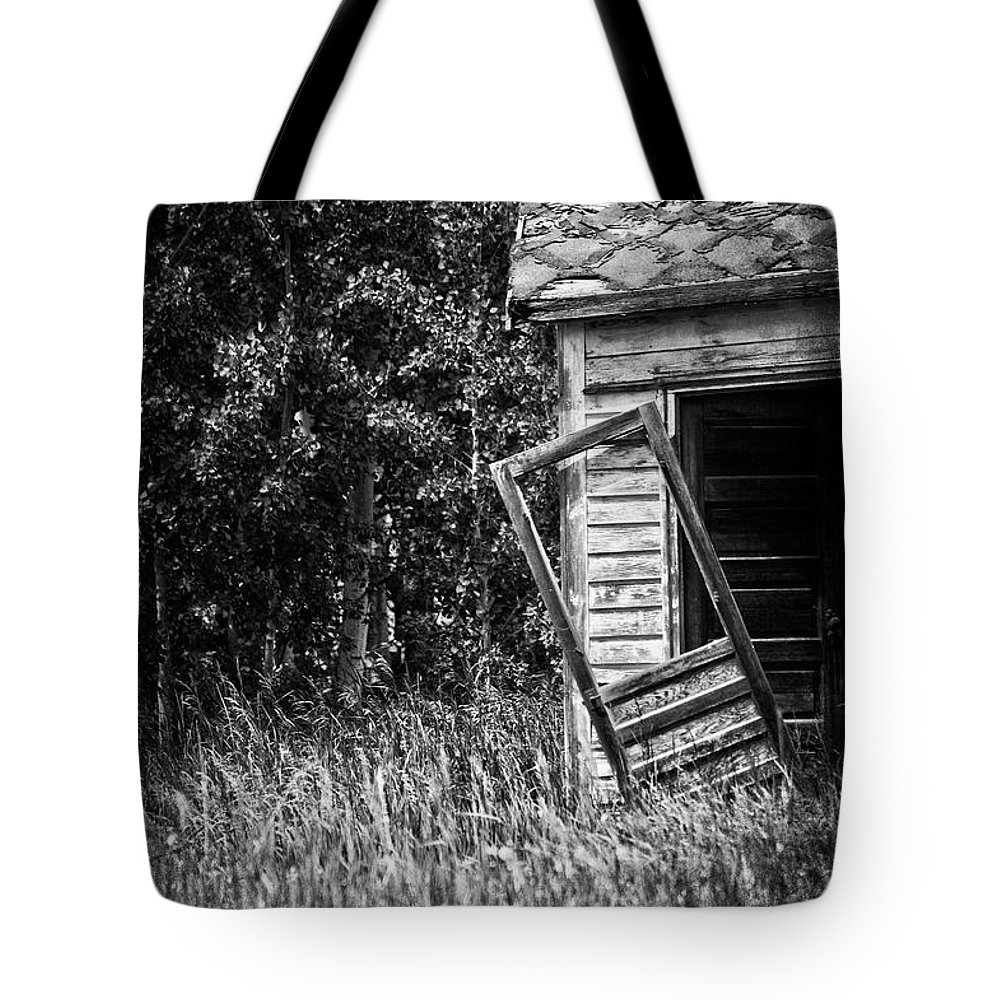 Door Tote Bag featuring the photograph Hinged Hunger by The Artist Project