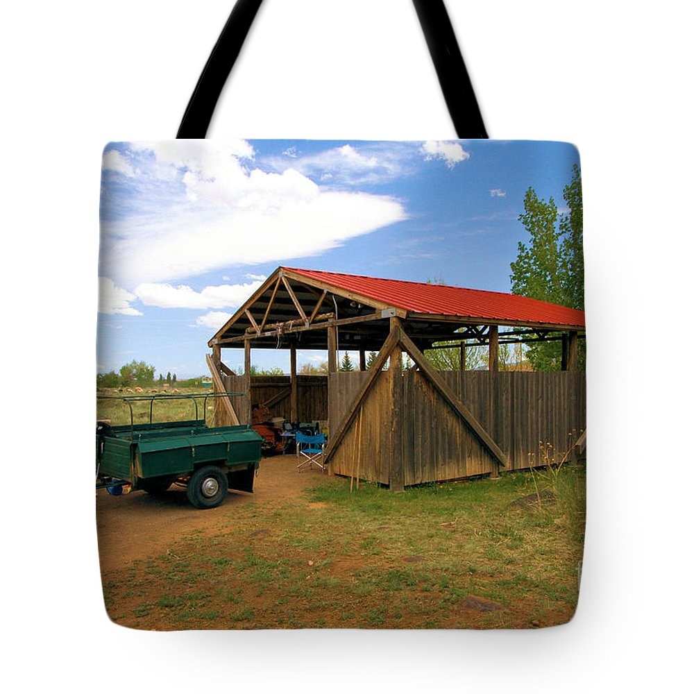 Capitol Reef National Park Tote Bag featuring the photograph Historic Fruita District Barn by Adam Jewell