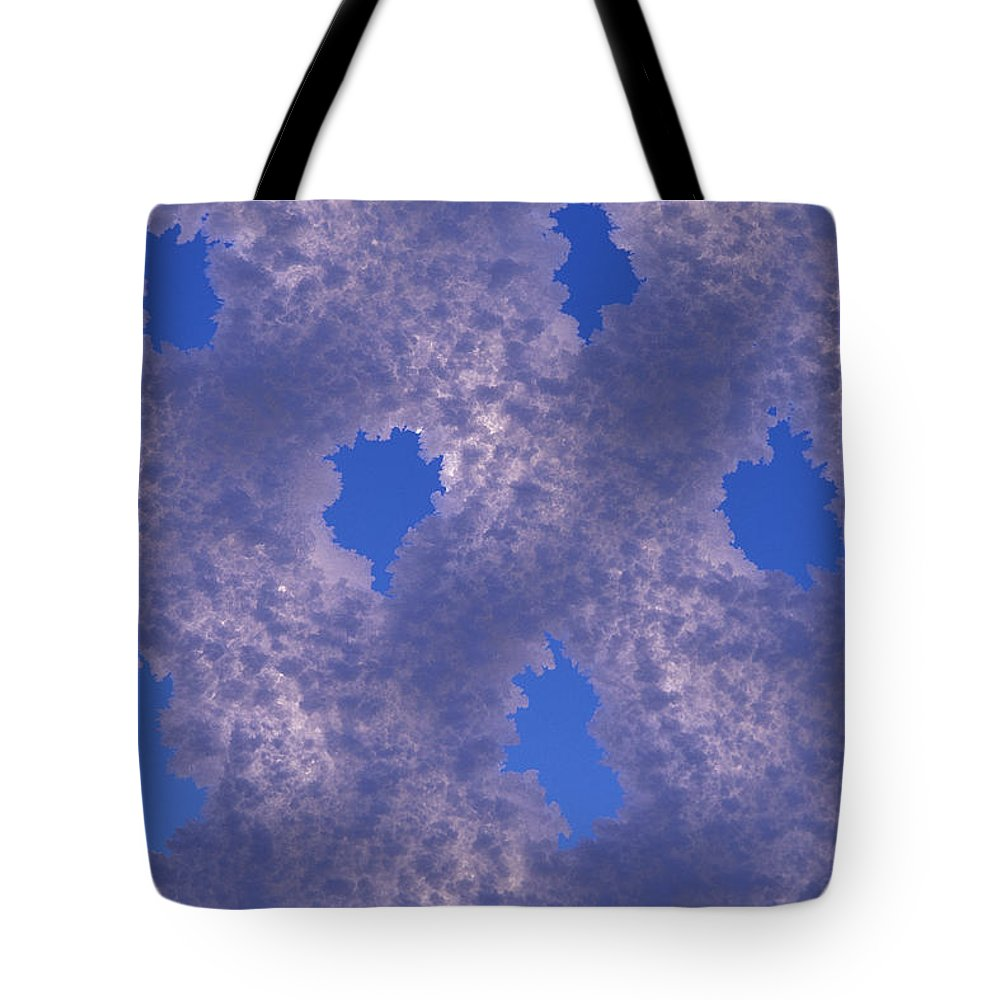 Color Image Tote Bag featuring the photograph Hoar Frost On Fence by Nick Norman