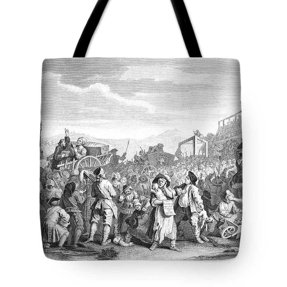 1751 Tote Bag featuring the photograph Hogarth: Industry, 1751 by Granger