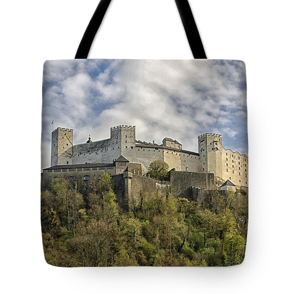 Hohensalzburg Tote Bag featuring the photograph Hohensalzburg Castle by Lauri Novak