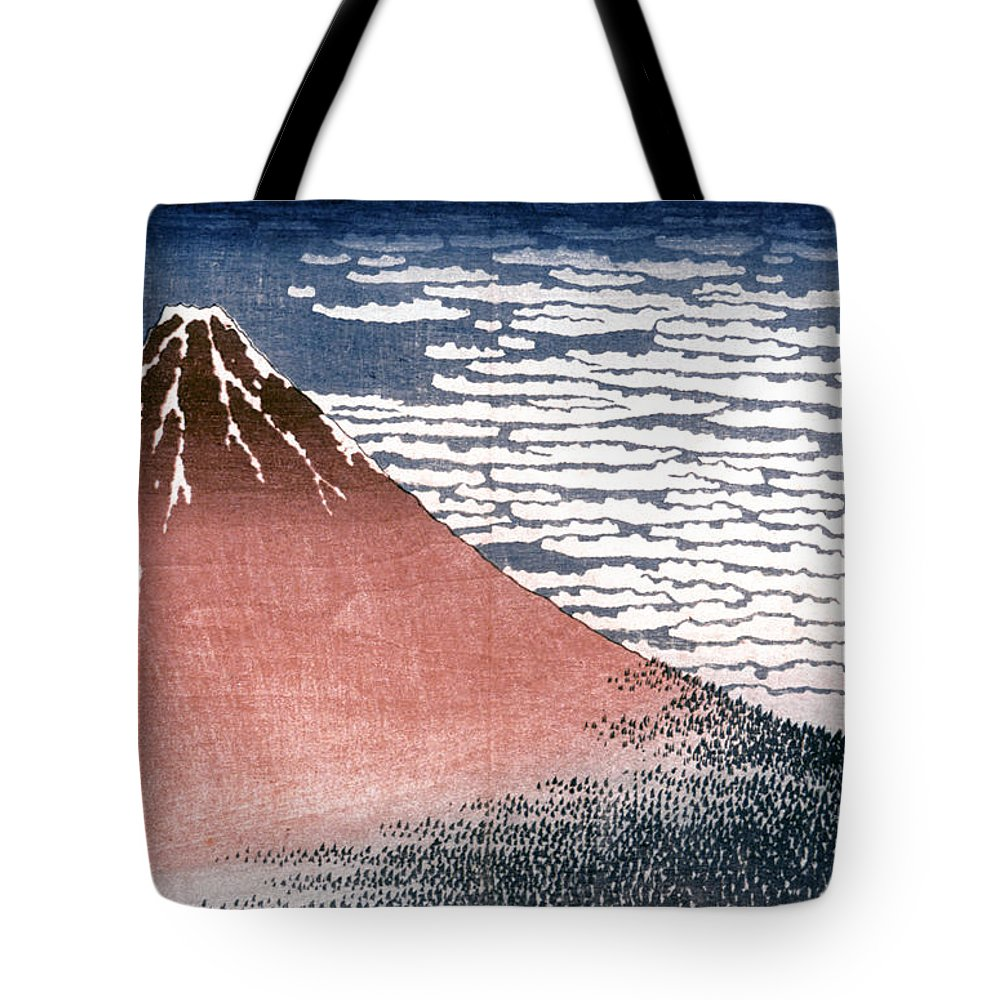 19th Century Tote Bag featuring the photograph Hokusai: Fuji by Granger
