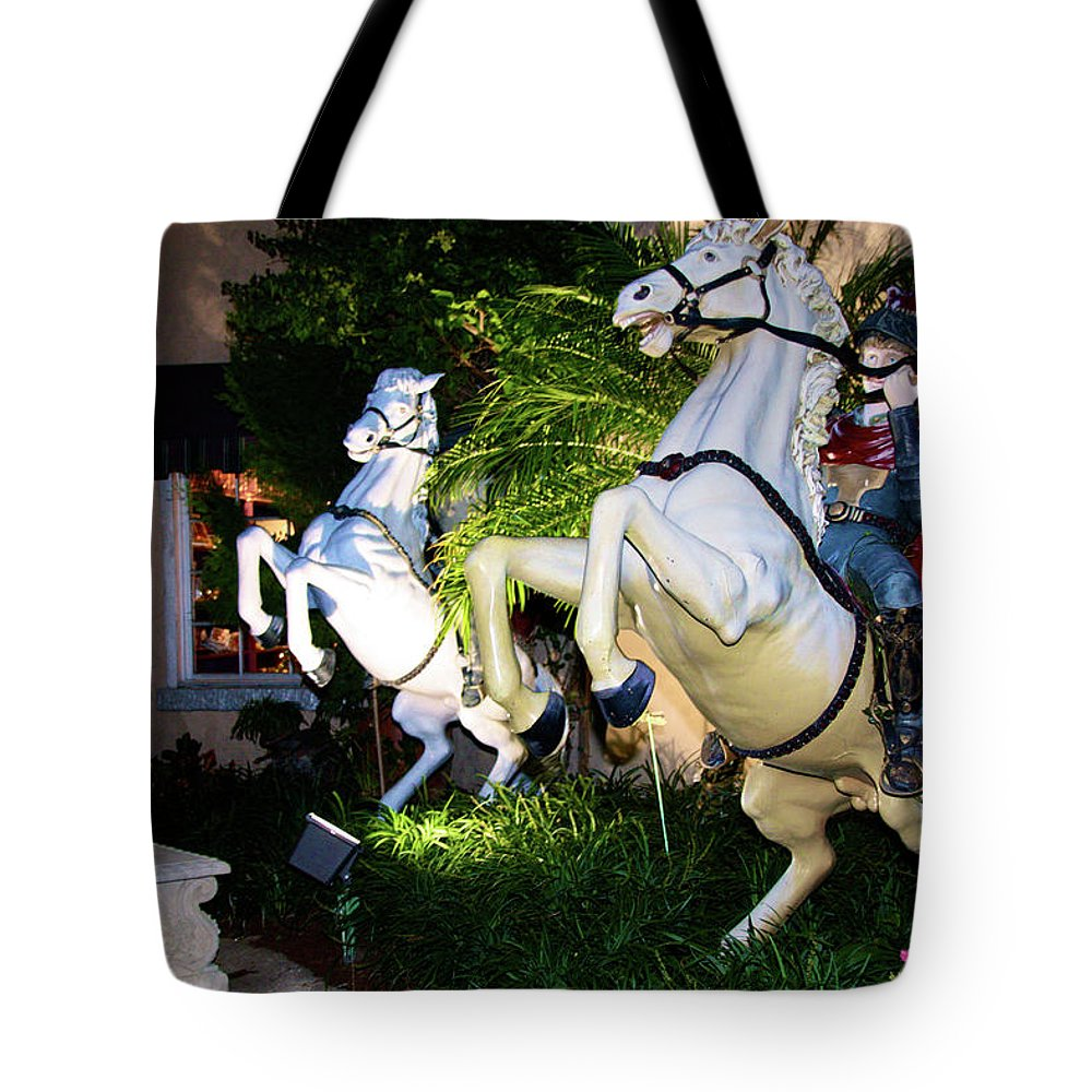 Animate Scene Tote Bag featuring the photograph Hold On To The Reins by Terry Wallace