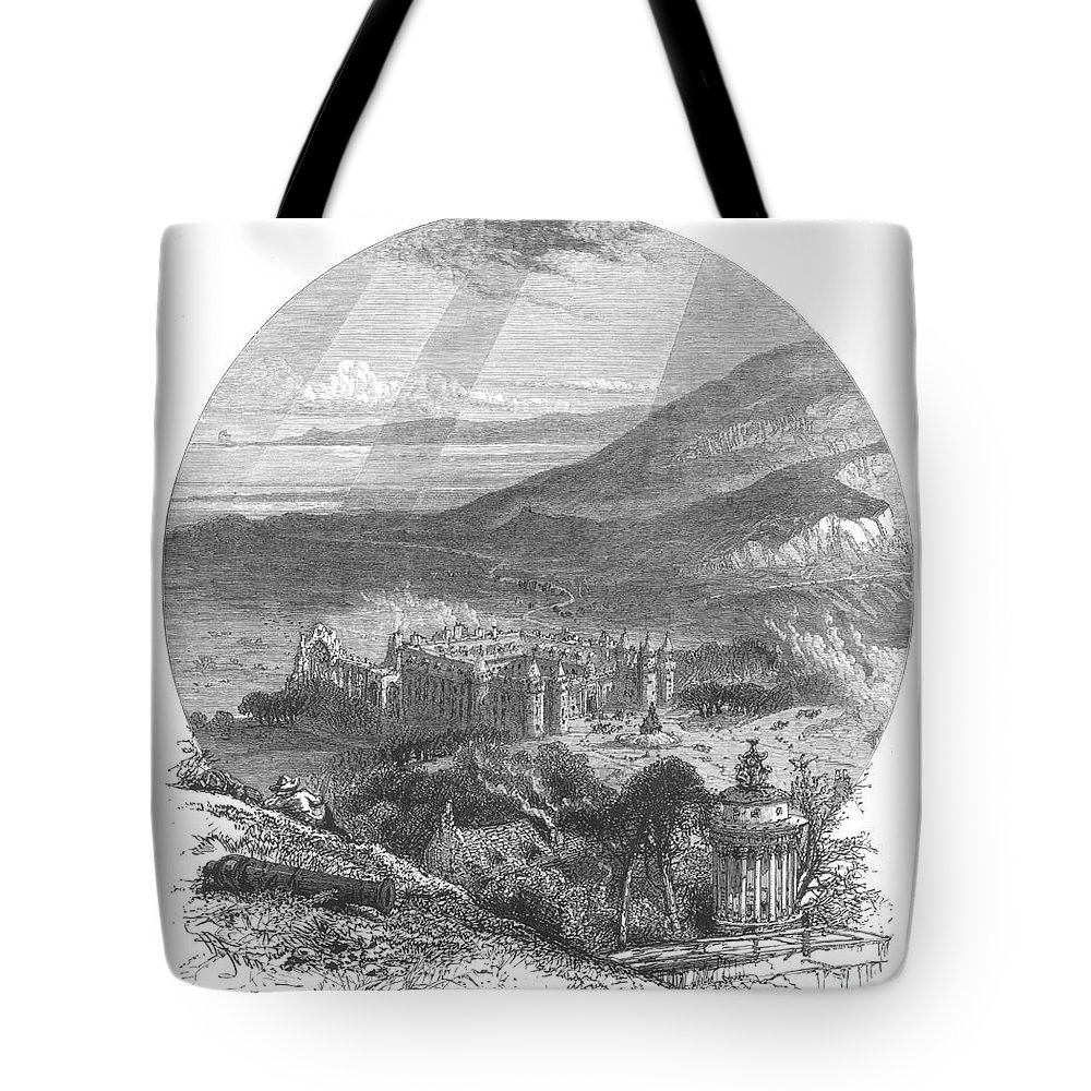 19th Century Tote Bag featuring the photograph Holyrood Palace by Granger