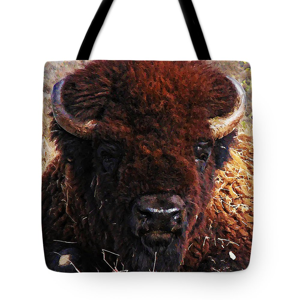 Home On The Range Tote Bag featuring the photograph Home On The Range by Bill Cannon