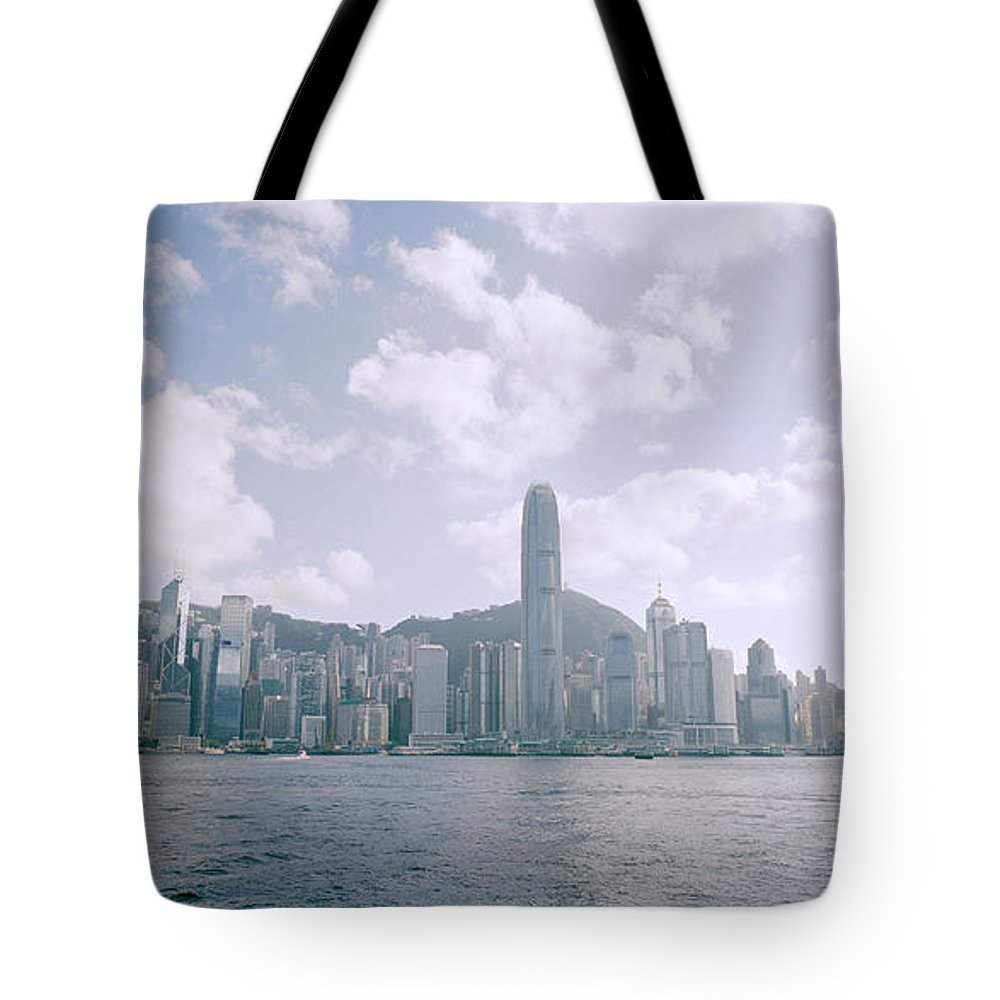 Color Tote Bag featuring the photograph Hong Kong Skyline by Shaun Higson