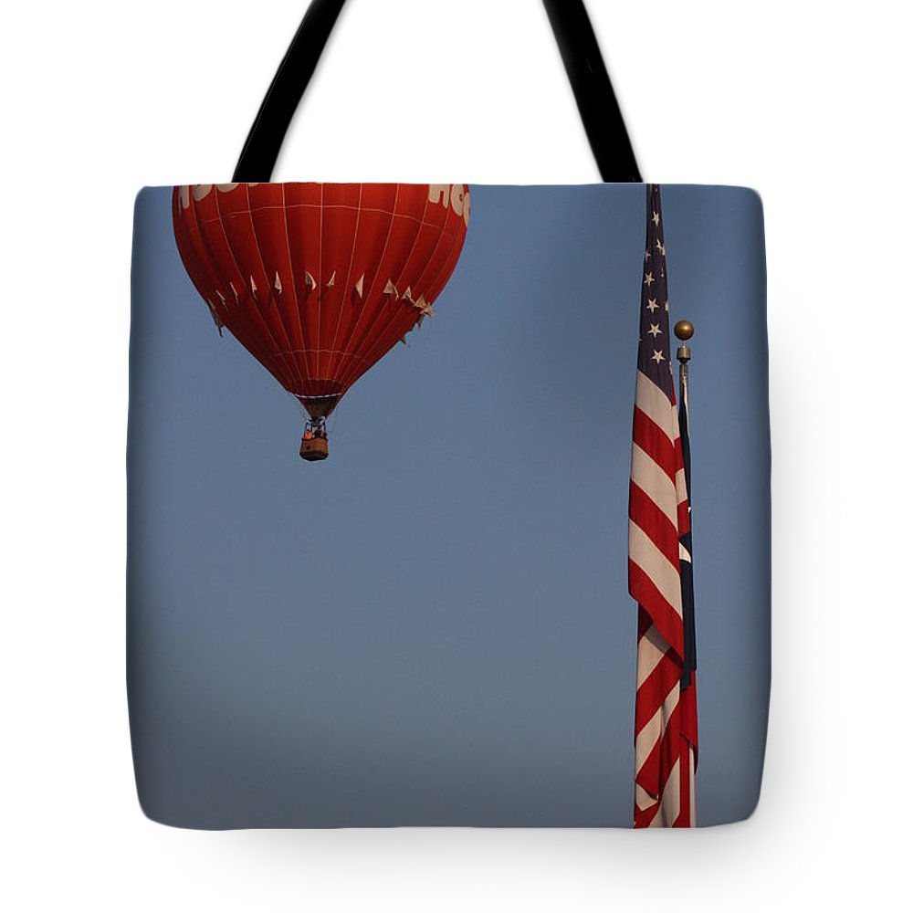 Hotair Tote Bag featuring the photograph Hooters American Flag by Jerry Bunger