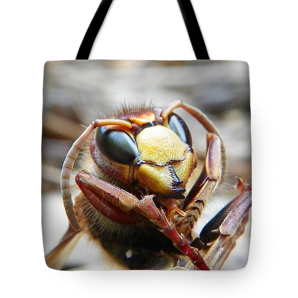 Bee Tote Bag featuring the photograph Hornet by Chad and Stacey Hall