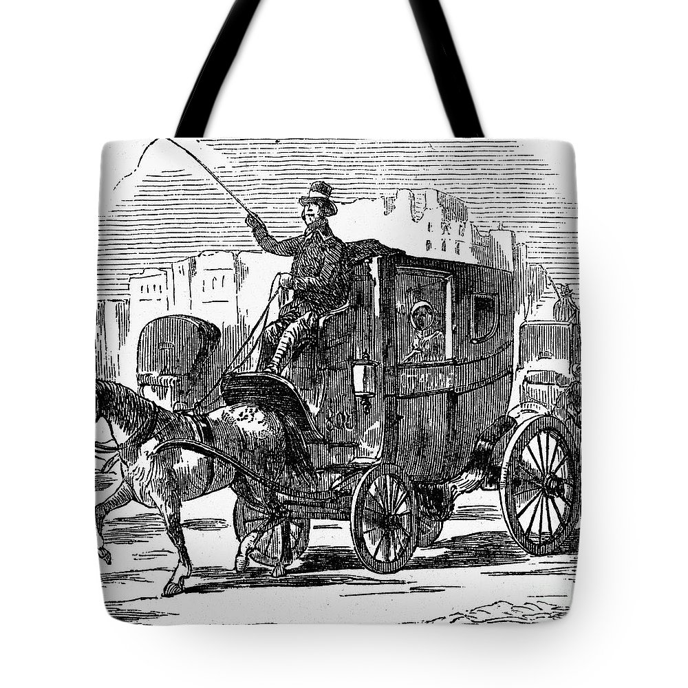 1853 Tote Bag featuring the photograph Horse Carriage, 1853 by Granger
