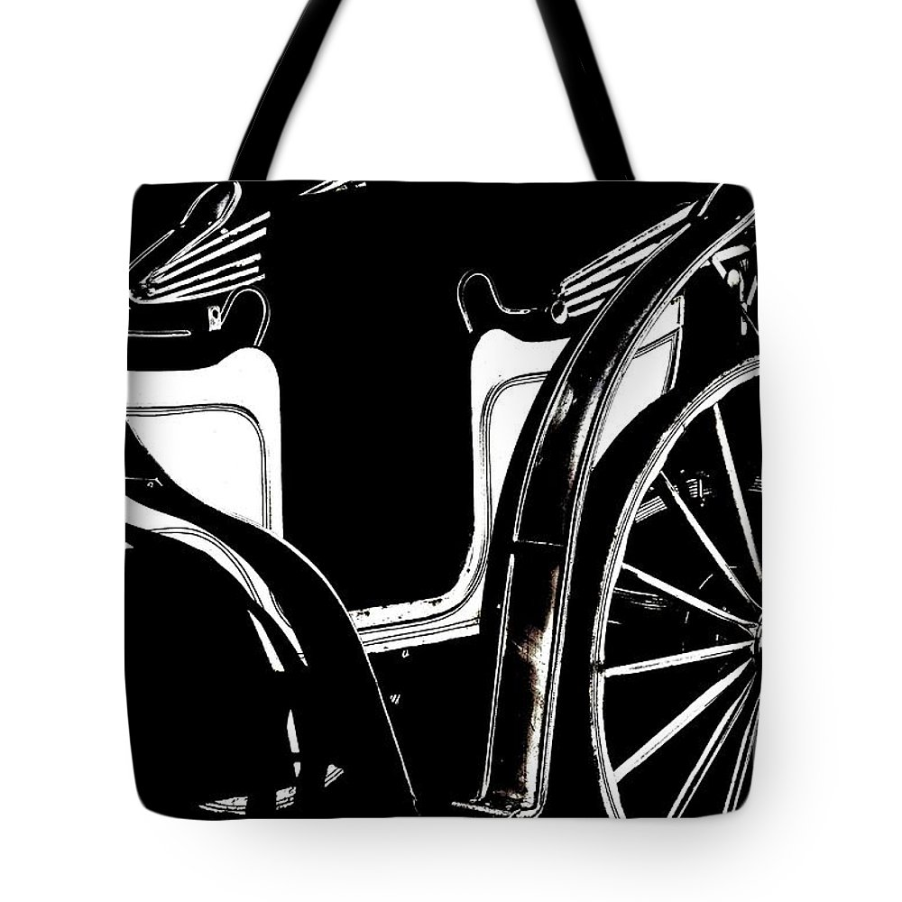 Horse Drawn Carriage Antique Tote Bag featuring the photograph Horse Drawn Carriage Antique by Maria Urso