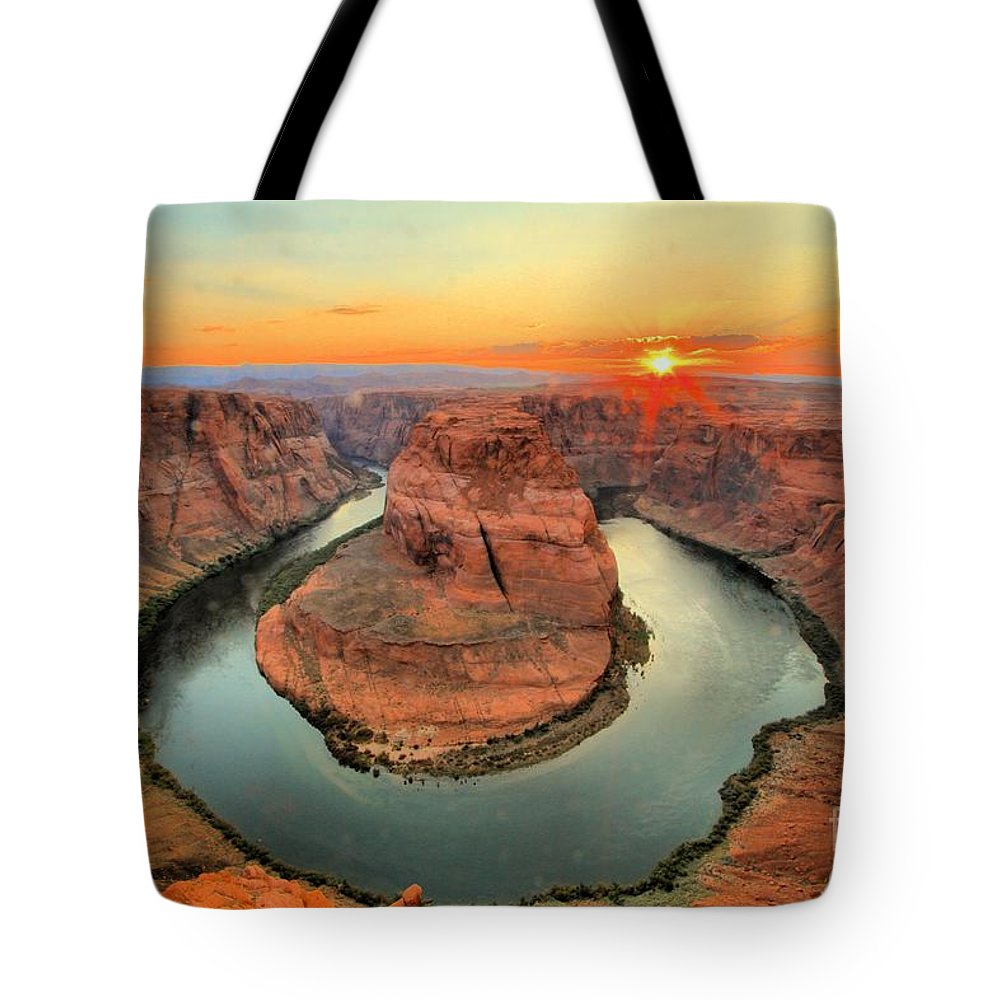 Tote Bag featuring the photograph Horseshoe Bend by Adam Jewell