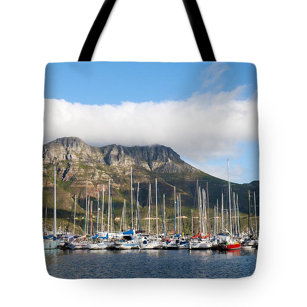 Hout Bay Tote Bag featuring the photograph Hout Bay Harbour by Fabrizio Troiani