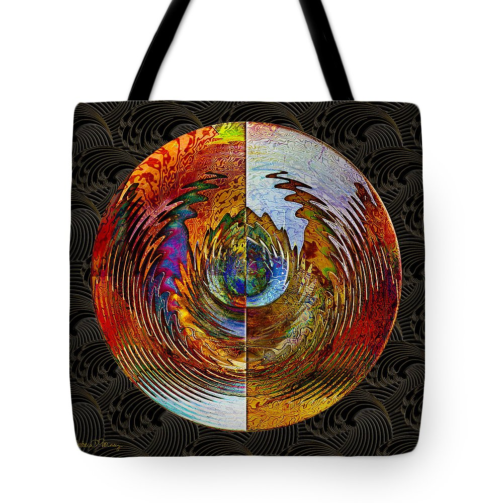 Abstract Tote Bag featuring the digital art How The Other Half Lives by Barbara Berney