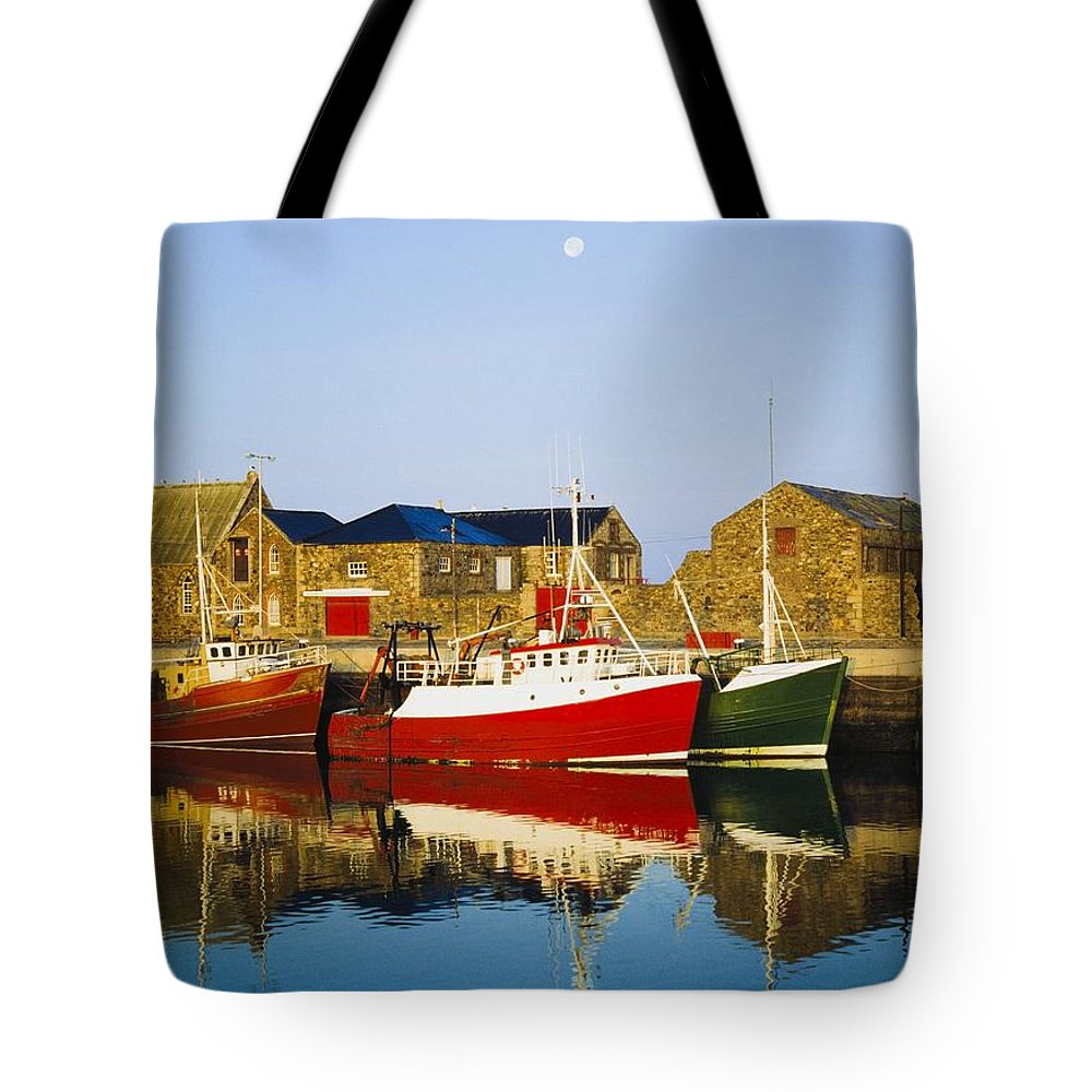 Outdoors Tote Bag featuring the photograph Howth Harbour, County Dublin, Ireland by The Irish Image Collection