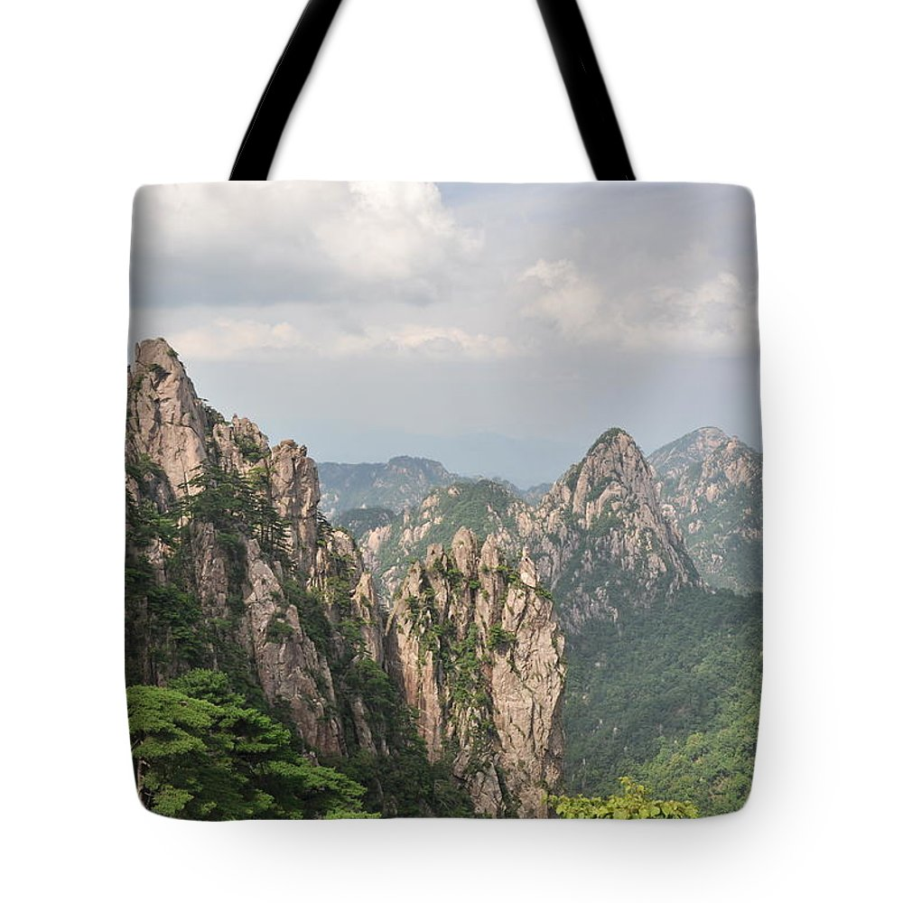 China Tote Bag featuring the photograph Huangshan Granite 1 by Jason Chu