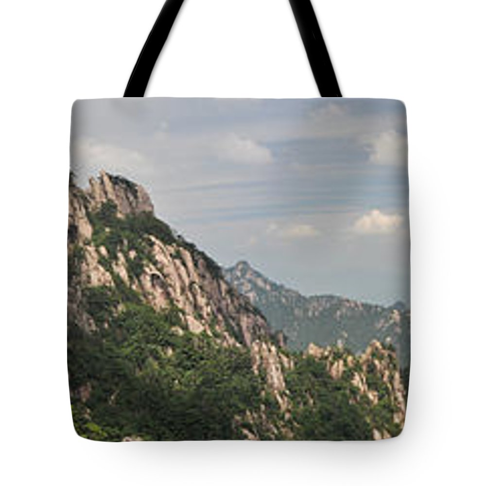 China Tote Bag featuring the photograph Huangshan Panorama 2 by Jason Chu