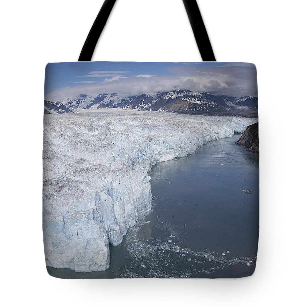 Mp Tote Bag featuring the photograph Hubbard Glacier Encroaching On Gilbert by Matthias Breiter