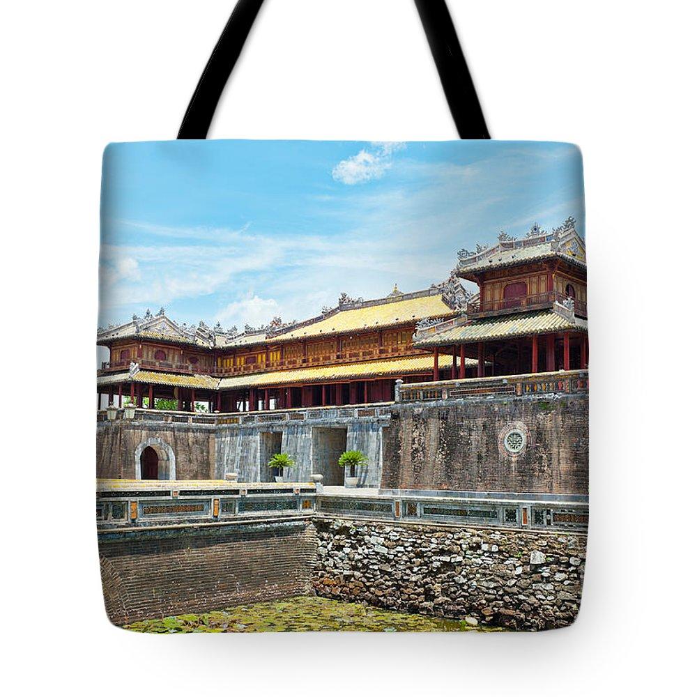 Citadel Tote Bag featuring the photograph Hue Citadel by MotHaiBaPhoto Prints