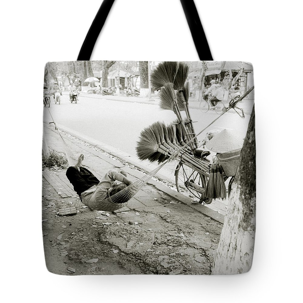Asia Tote Bag featuring the photograph Hue Street Life by Shaun Higson