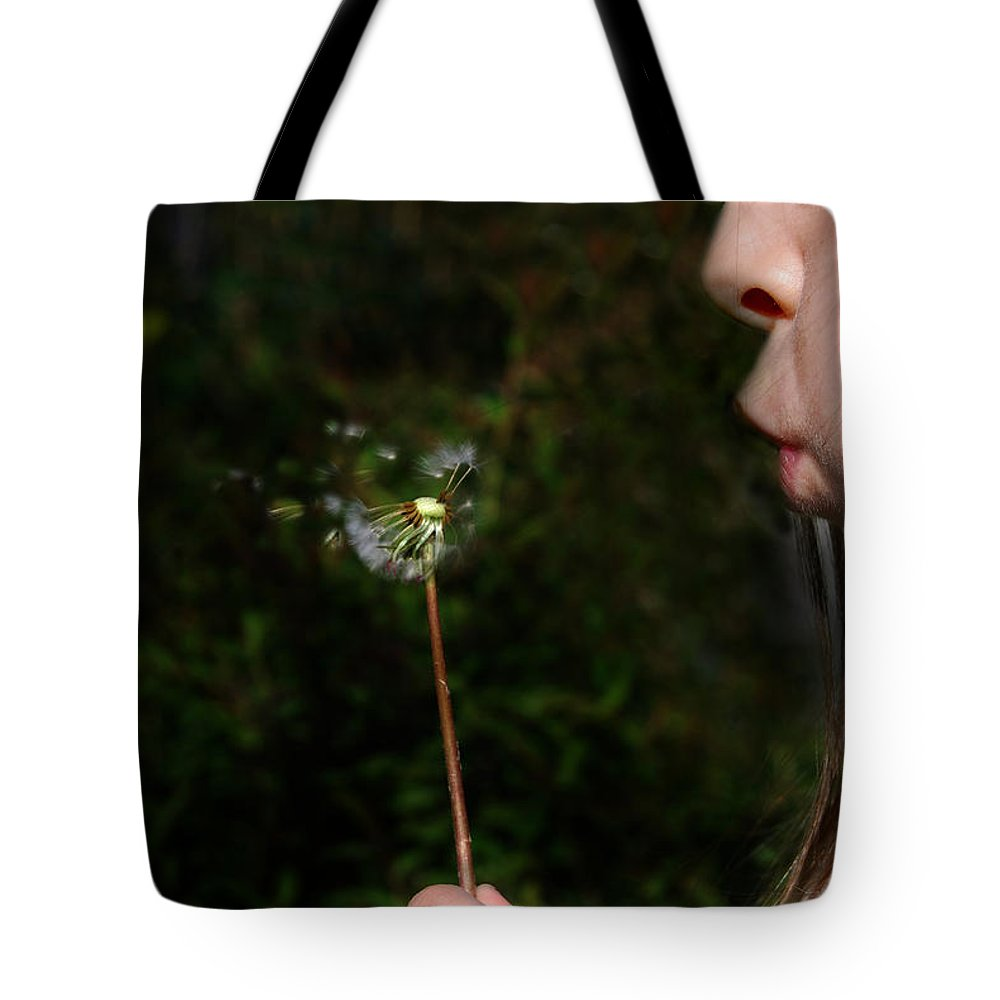Dandylion Tote Bag featuring the photograph Huff N Puff by Skip Willits