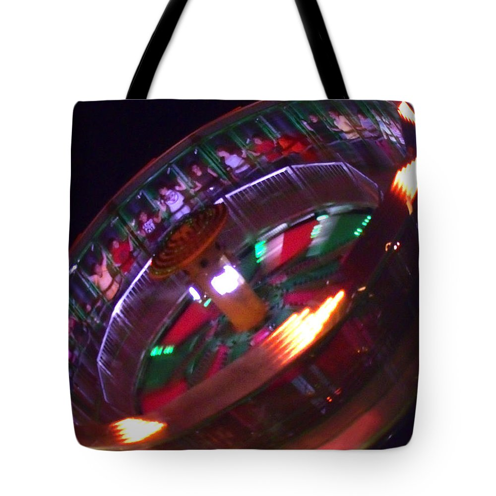 Wheel Of Fortune Tote Bag featuring the photograph Human Roulette Wheel by Kym Backland