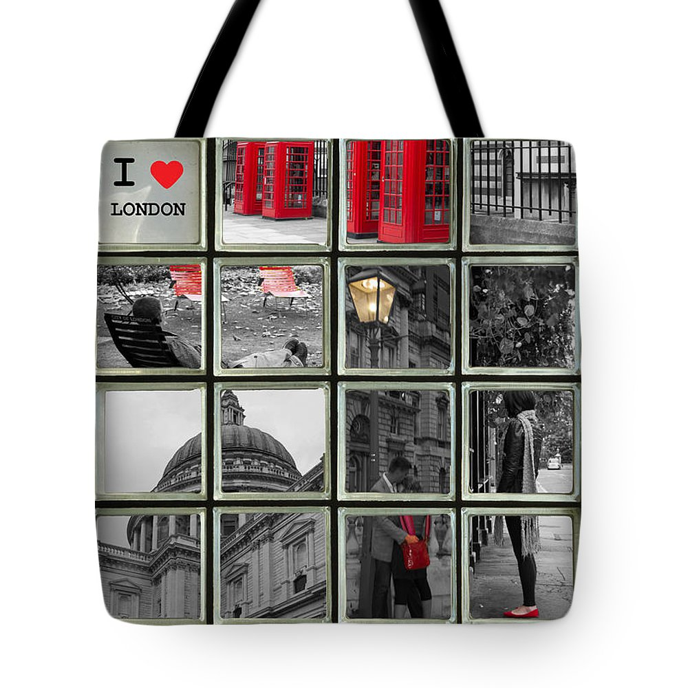 Westminster Tote Bag featuring the photograph I Love London by David French