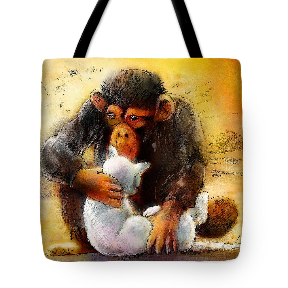 Animals Tote Bag featuring the painting I Love You So Much Babe by Miki De Goodaboom