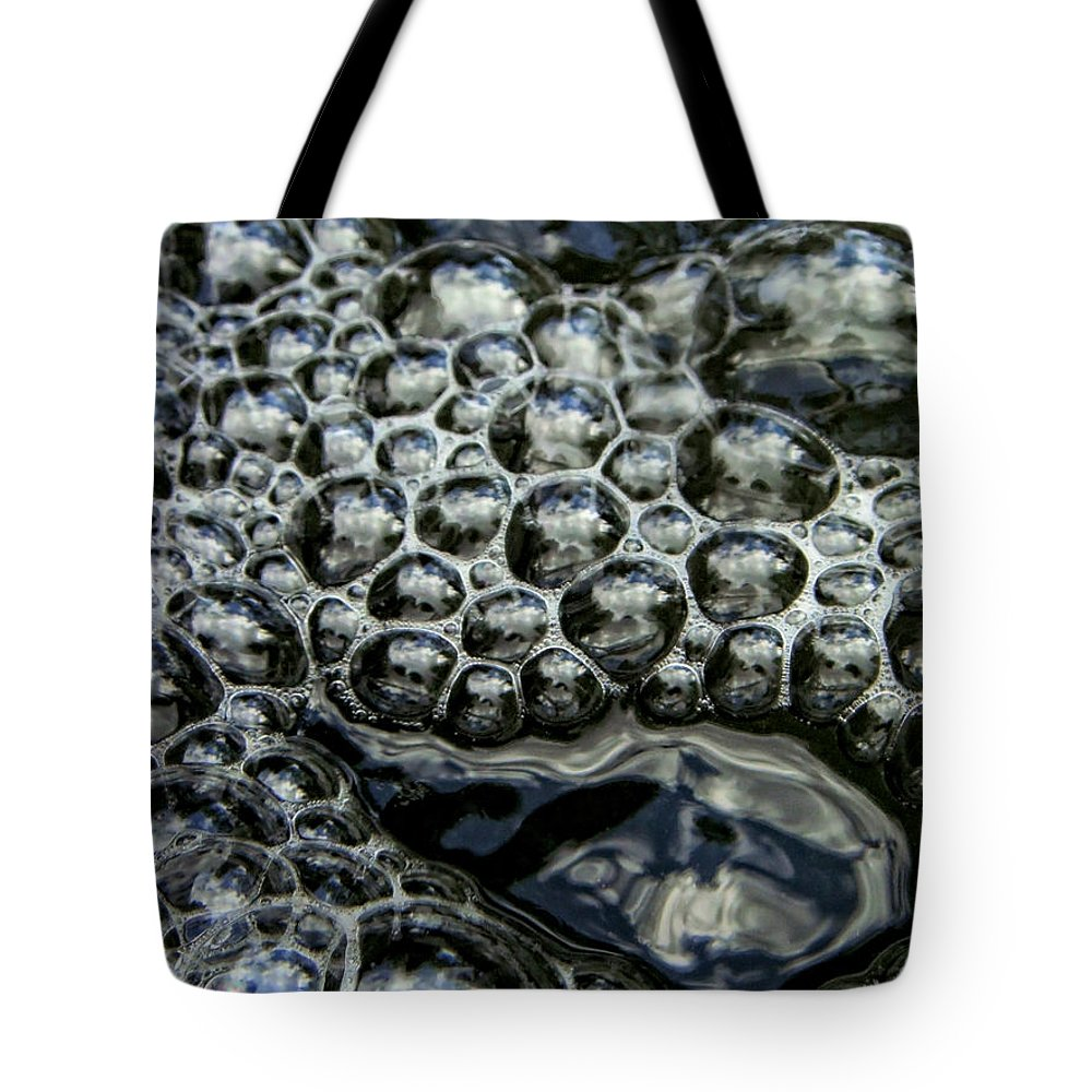 Bubble Tote Bag featuring the photograph I See Bubbles by Donna Blackhall