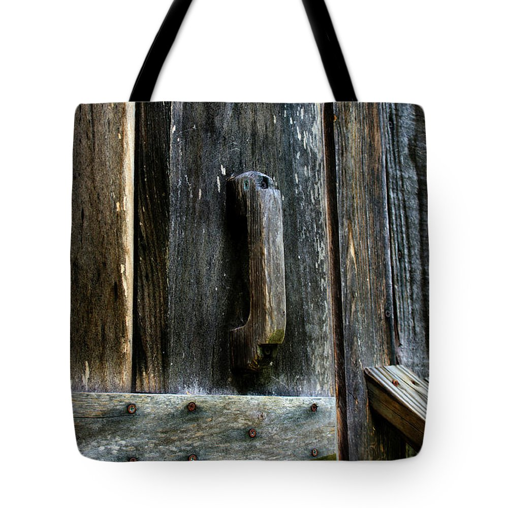 Old Wood Tote Bag featuring the photograph I Stand At The Door And Knock by Paul Mashburn