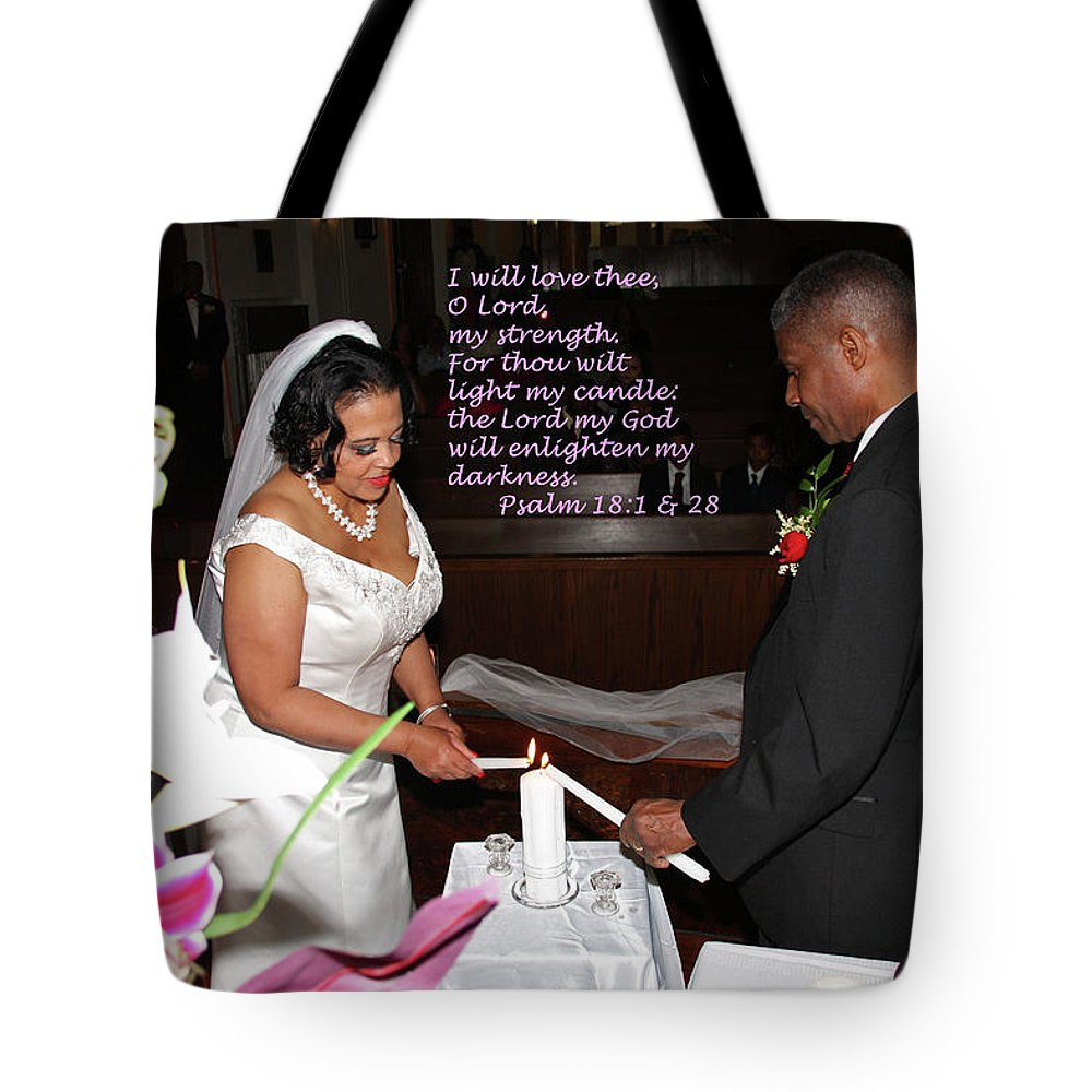 Wedding Tote Bag featuring the photograph I Will Love Thee by Terry Wallace