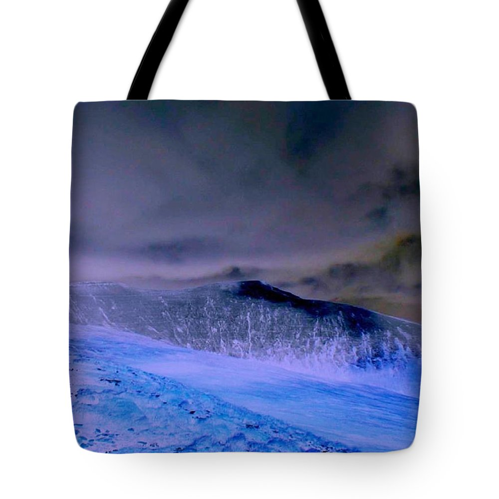 Mountain Tote Bag featuring the photograph Ice Blue Stone by Anthony Brito