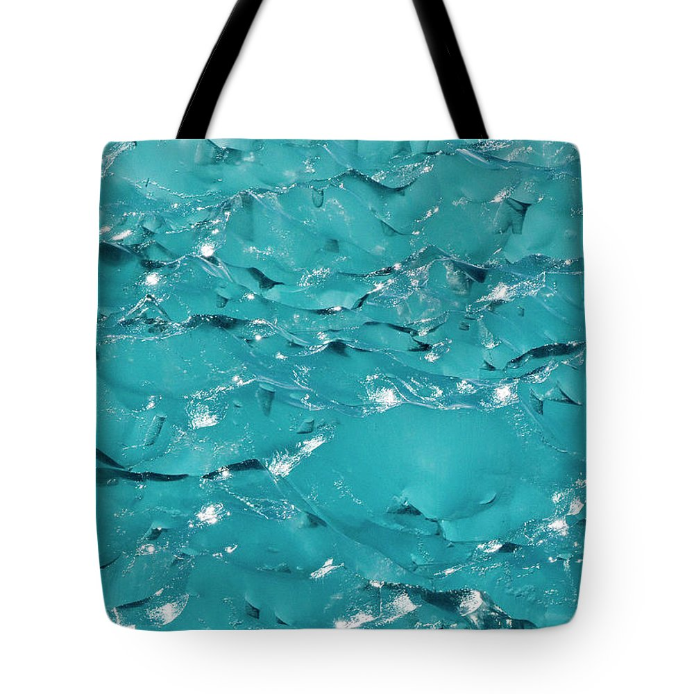 Mp Tote Bag featuring the photograph Ice Detail, Southeast Alaska by Flip Nicklin