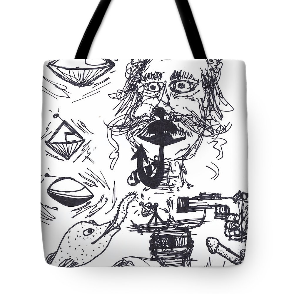 Ice House Chronicles 51 Tote Bag featuring the drawing Ice House Chronicles 51 by Michael Mooney