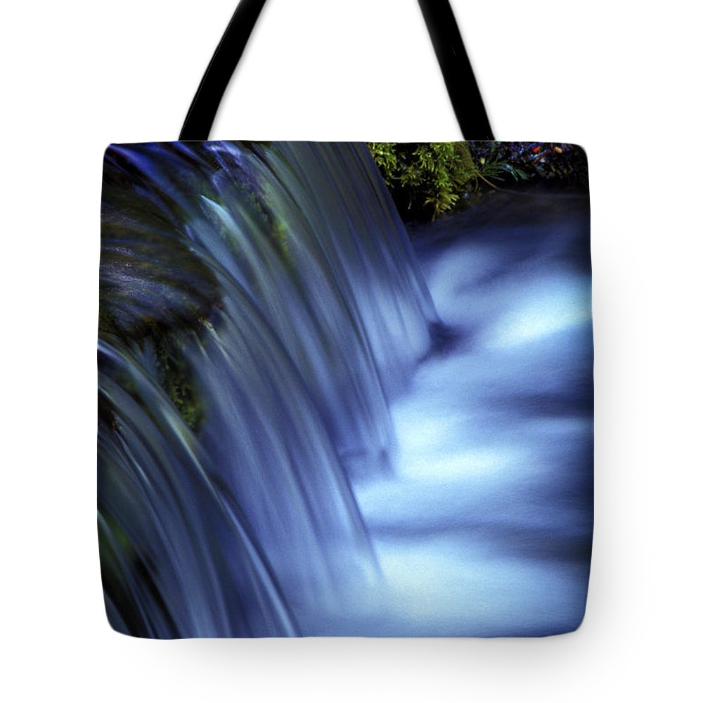 Water Tote Bag featuring the photograph Ice Water Blue by Paul W Faust - Impressions of Light