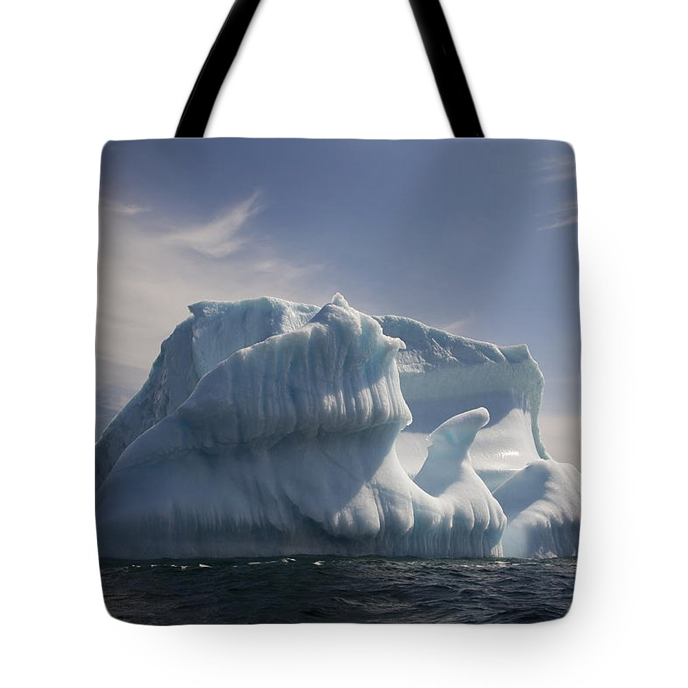Chilly Tote Bag featuring the photograph Iceberg, Quirpon Island, Newfoundland & by John Sylvester