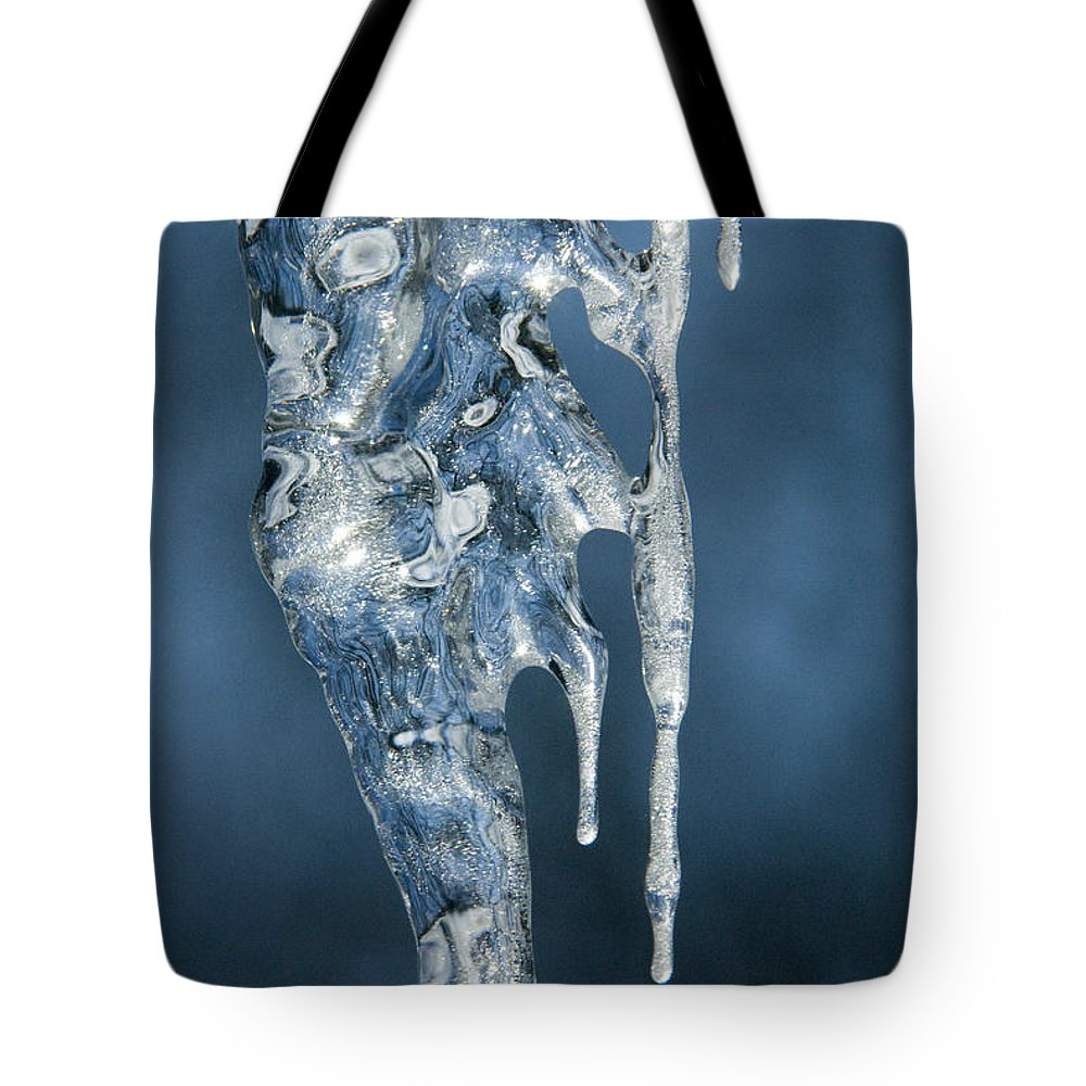 Bronstein Tote Bag featuring the photograph Icicle Formation by Sandra Bronstein