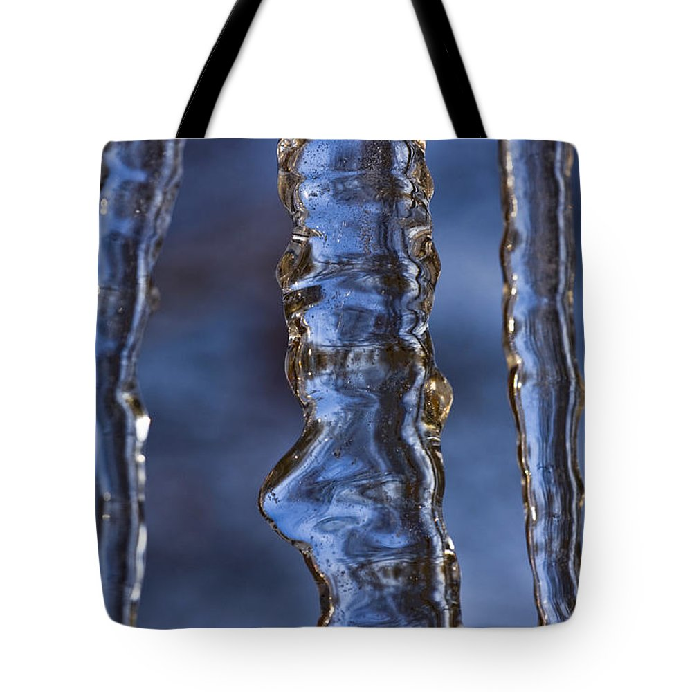 Nature Tote Bag featuring the photograph Icicles by Heiko Koehrer-Wagner