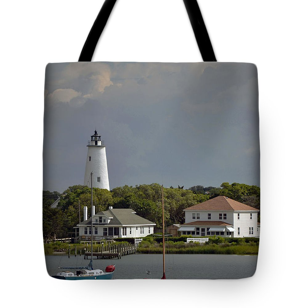 Lighthouse Tote Bag featuring the photograph Idle Hours by Melanie Kirdasi