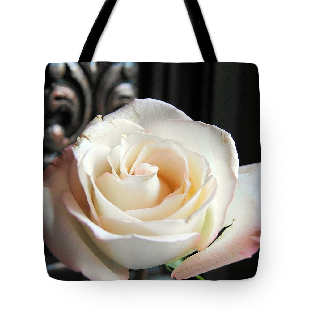 Rose Tote Bag featuring the photograph If Love Was A Rose by Kathy Bucari