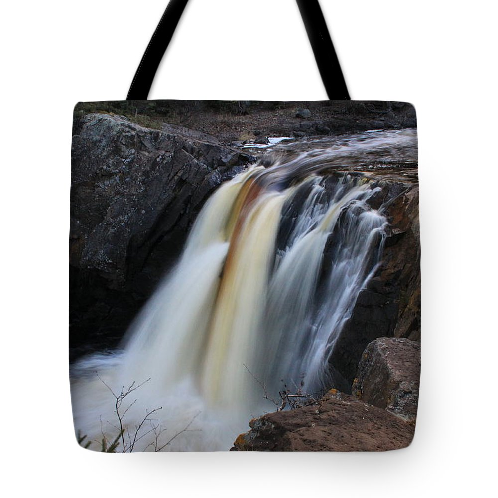 Tote Bag featuring the photograph Illgen Falls Baptism River by Joi Electa