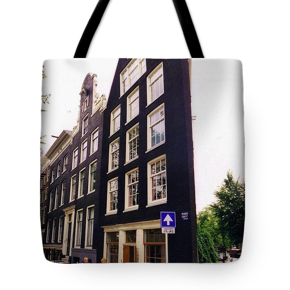 Illusion Tote Bag featuring the photograph Illusion Of A Two Dimensional Building In Amsterdam by Halifax Artist John Malone