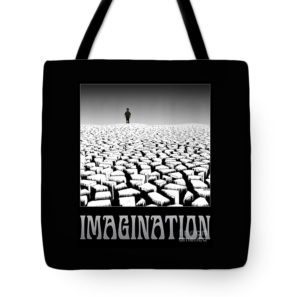 Surreal Tote Bag featuring the digital art Imagination by Phil Perkins