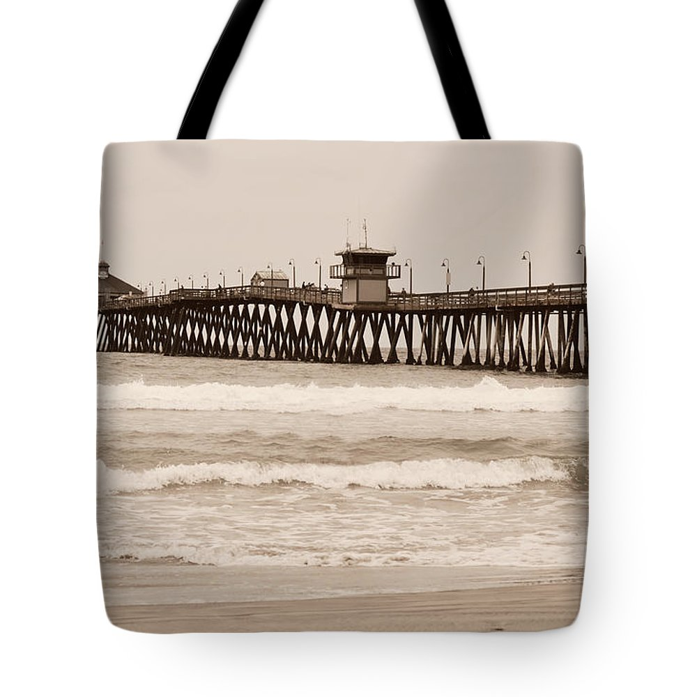 Beach Tote Bag featuring the photograph Imperial Beach by Rima Biswas