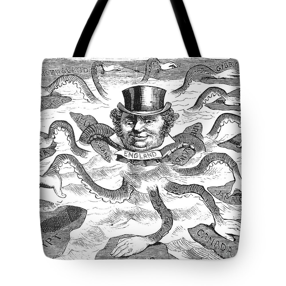 1882 Tote Bag featuring the drawing Imperialism Cartoon - To License For Professional Use Visit Granger.com by Granger