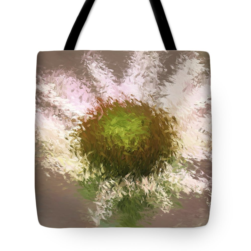 Flower Tote Bag featuring the digital art Impressionistic Echinacea by Deborah Benoit