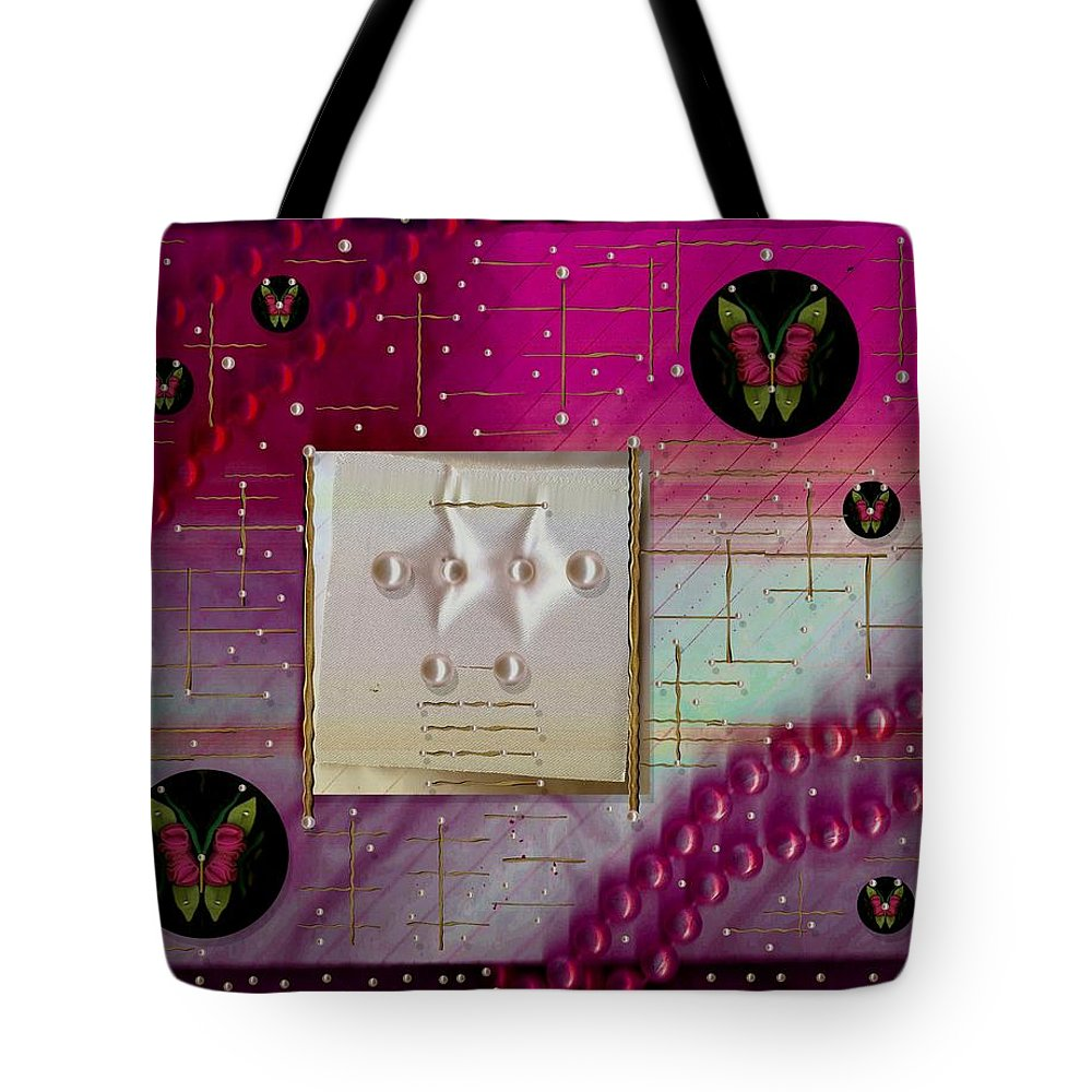 Landscape Tote Bag featuring the mixed media In A Rare Oriental Style by Pepita Selles